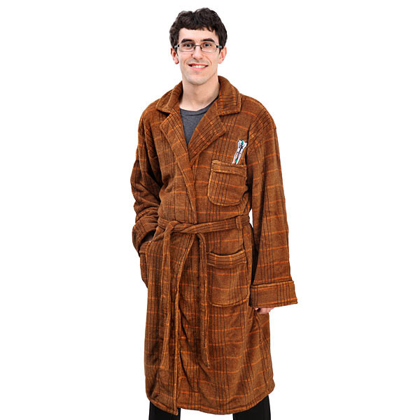 11th Doctor Fleece Bathrobe