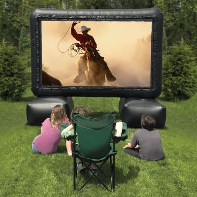 Outdoor Home Theater System with 12-Foot Inflatable Screen