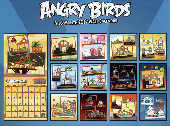 16 Month Angry Birds 2012 Calendar