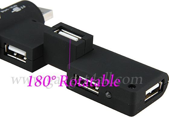 180 Degree Rotatable USB Hub