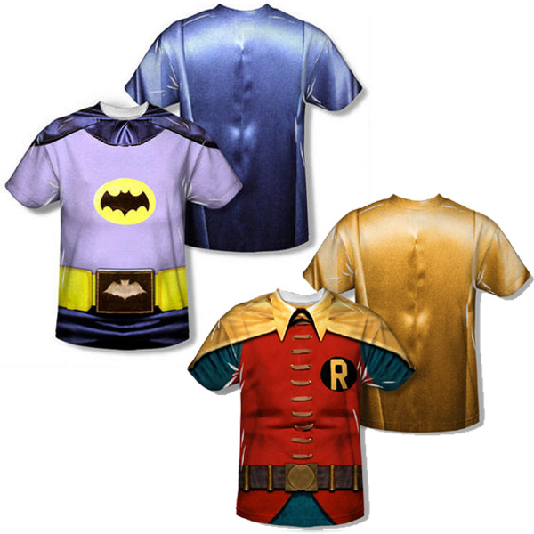 335cd7fdf457 1966 Batman and Robin Costume Allover Print Adult T-Shirts