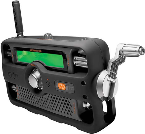 2-Way AM/FM/NOAA Crank Radio