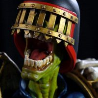 2000 AD Judge Death Statue Face