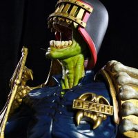 2000 AD Judge Death Statue Profile