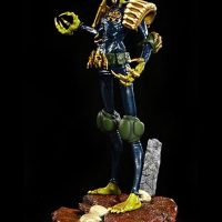 2000 AD Judge Death Statue Side