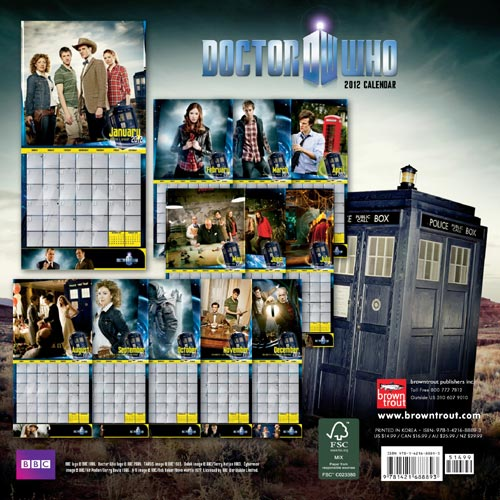 2012 Doctor Who Wall Calendar