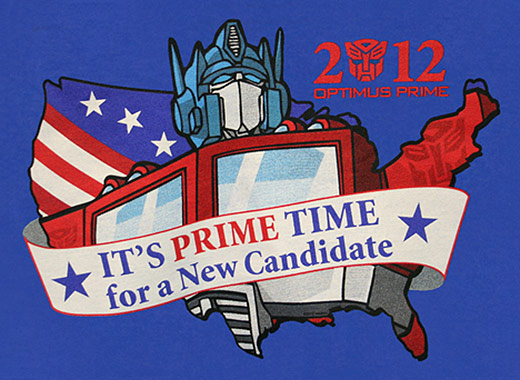 2012 Optimus Prime Candidate T-Shirt