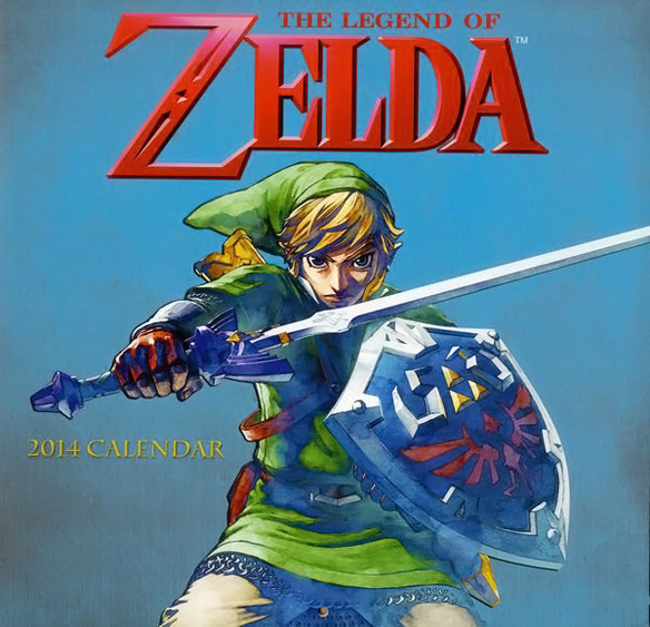 2014 Legend of Zelda Wall Calendar