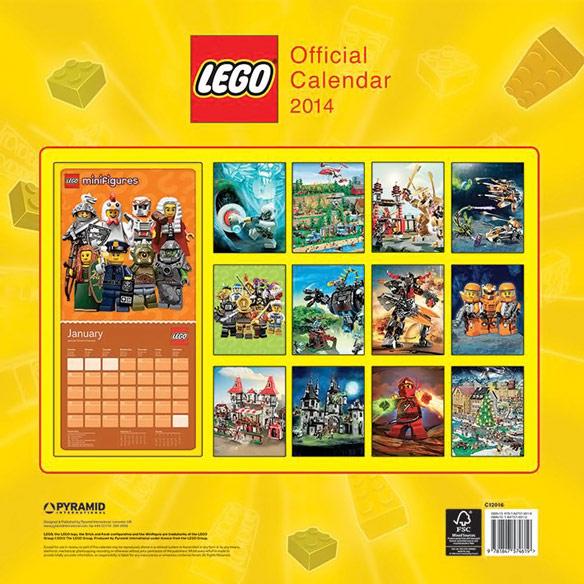 2014 Lego Wall Calendar