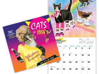 2017 Cats of 1986 Wall Calendar