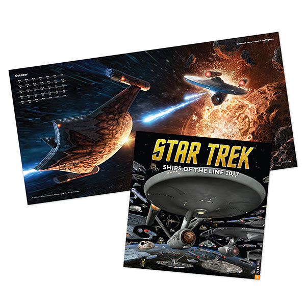 2017 Star Trek Ships of the Line Calendar
