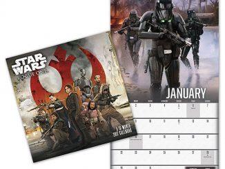 2017 Star Wars Rogue One Wall Calendar