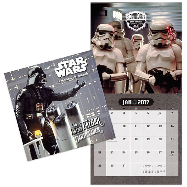 2017 Star Wars Saga Wall Calendar