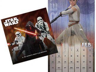 2017 Star Wars The Force Awakens Wall Calendar