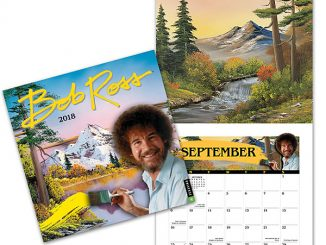 2018 Bob Ross The Joy of Painting Wall Calendar