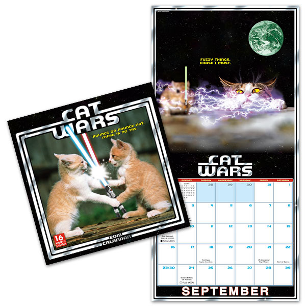 2018 Cat Wars Wall Calendar