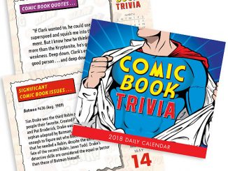 2018 Comic Book Trivia Desktop Calendar