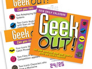 2018 Geek Out Desktop Calendar