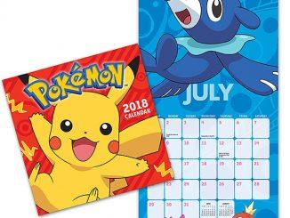2018 Pokémon Wall Calendar