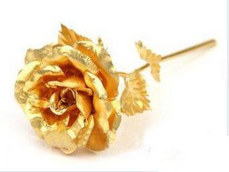 24k Dipped Gold Rose Foil Flowers