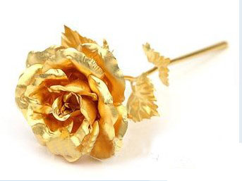 24k Dipped Gold Rose Foil Flowers