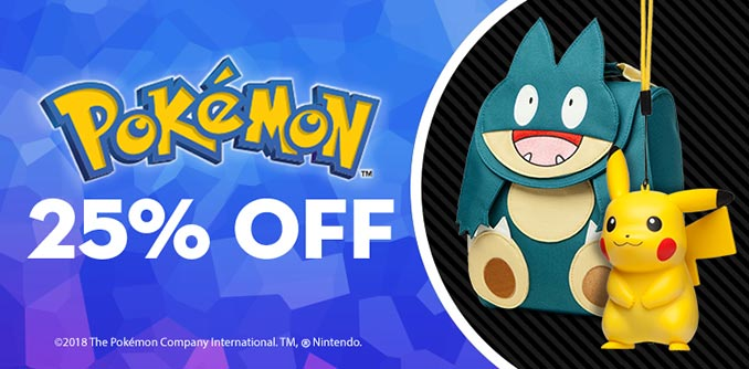 25% Off Pokemon Merchandise at ThinkGeek