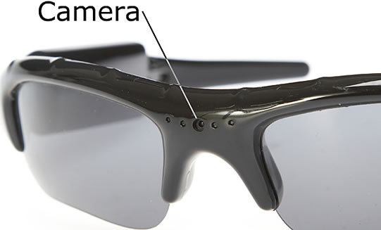 Spy Sunglasses with 2GB Built-In Memory
