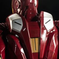 3-Foot-Tall Iron Man Mark VII Legendary Scale Figure Ammo Pack Detail