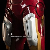 3-Foot-Tall Iron Man Mark VII Legendary Scale Figure Interchangeable Thigh Armor