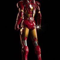 3-Foot-Tall Iron Man Mark VII Legendary Scale Figure Rear Angle