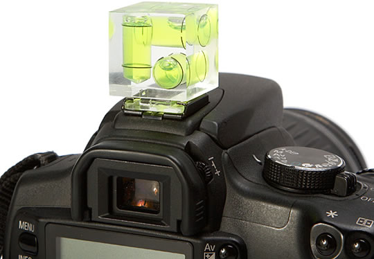 Cube Hot Shoe 3-Axis Bubble Level