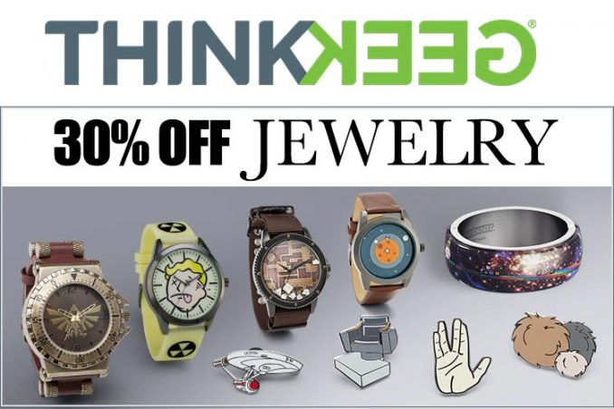 30% Off Jewelry at ThinkGeek