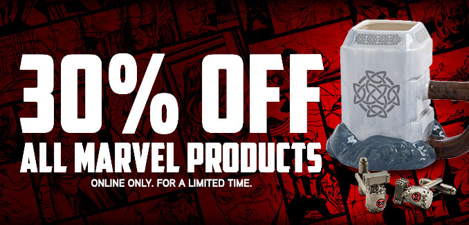 30% Off Marvel Merchandise at ThinkGeek