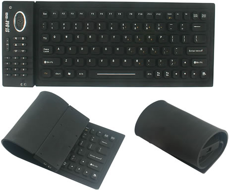 Flexible Keyboard with Skype Phone & USB Hub