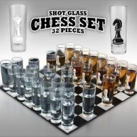 32 piece Chess Shot Glass Set