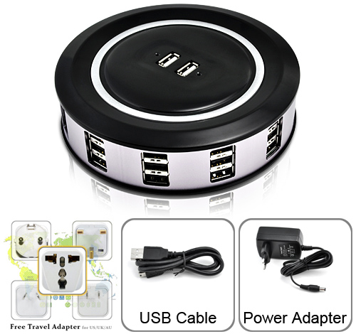 36 Port Powered USB Hub