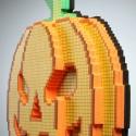 3D 8-Bit LED Jack O'Lantern