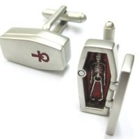 3D Coffin Cufflinks