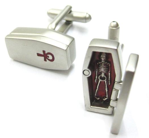 3D Coffin Cufflinks