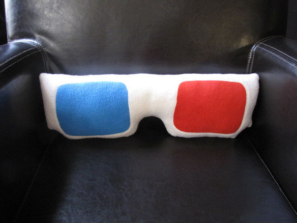3D Glasses Pillow
