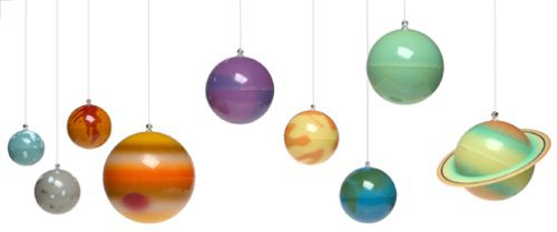 3d glow in the dark solar system - Hanging planets decorations ...