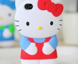 3D Hello Kitty iPhone 4S 4G 4 Silicon Hard Case