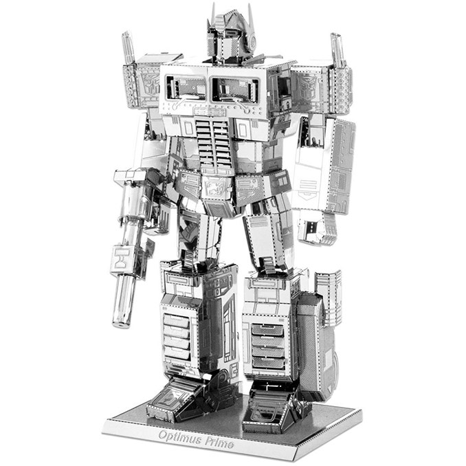 3D Laser Cut Metal Transformers Optimus Prime