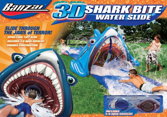 3D Shark Bite Slip N Slide