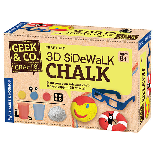3D Sidewalk Chalk Kit