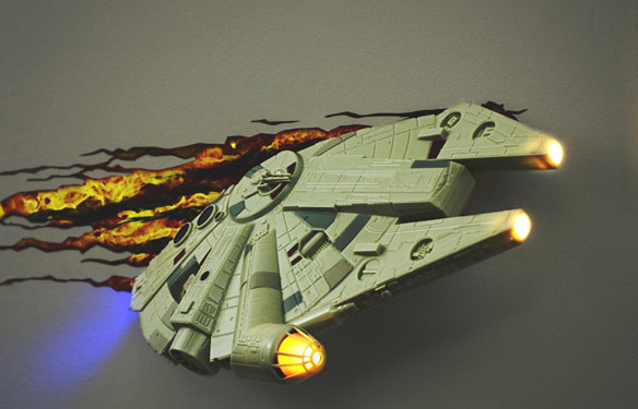 Star Wars Millennium Falcon 3d Wall Light