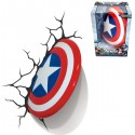 3D Wall Art Captain America Nightlight