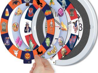 4-Holiday Musical Clock