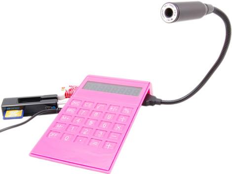 Calculator with 4-Port USB Hub