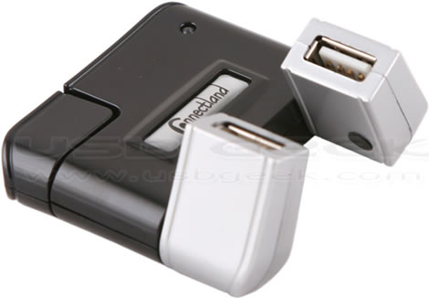 4-Port USB Swivel Hub